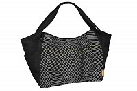 Taška Casual Twin Bag Zigzag black white