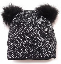 čepice Pinkie Black Dots Bobble