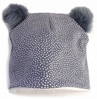 čepice Grey Dots Bobble